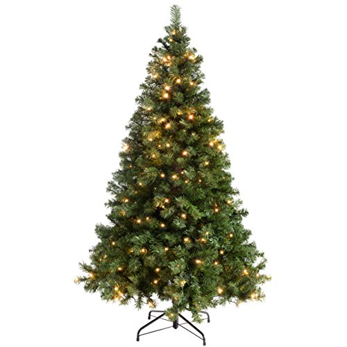 werchristmas-pre-lit-spruce-multi-function-christmas-tree-18-m-6-feet-with-350-led-green