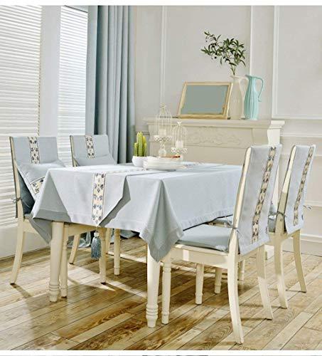 SED Europäischen Stil Tischdecke Quartet Platz Platz Tischdecke Rechteckigen Tischdecke Schöne Geruchlos Kaffeetisch Matte Computer Tuch,140 * 140 cm,Hellblau