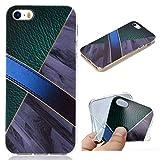 All Do Coque iPhone 5/5S/SE, Modèle de Cuir Marbre Luxe Étui Silicone Souple TPU...
