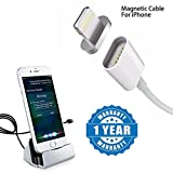 #10: Captcha Fast Charging Magnetic Charge Cable for iPhone SE/5/6/6S/7/Pluswith Dock Charger With Charging & Data Sync Lighting 8 Pin for iPhone 5/5S/5C/SE/6/6S/7 & iPad (One year warranty)