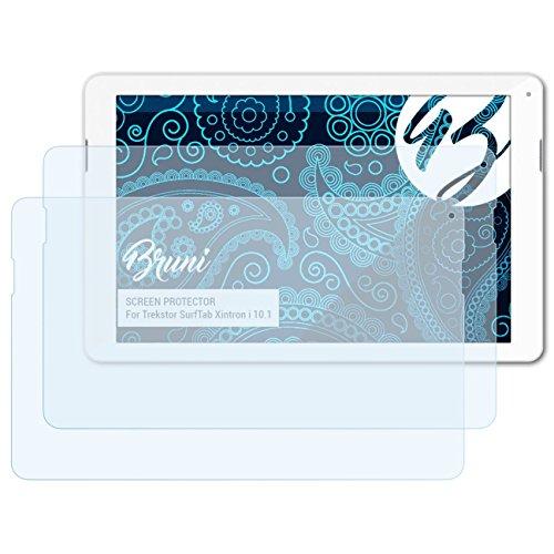 Bruni Schutzfolie kompatibel mit Trekstor SurfTab Xintron i 10.1 Folie, glasklare Bildschirmschutzfolie (2X)