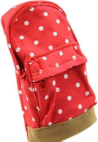 Hangaga Mini Mini Mini sac d'école pour stylo Toile d'étudiant de Trousse Sac Stylo enfant one Rouge  c551df