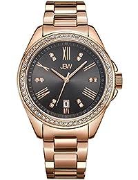JBW Capri Femme Diamant 38MM Saphire Quartz Cadran Gris Montre J6340A