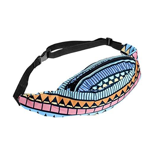 Reise-Gürteltasche, Unisex, verstellbarer Gurt, mit Reißverschluss Mehrfarbig - Aztec Blue
