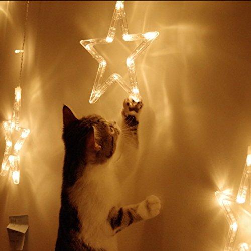 Guirnalda de Luces Elegear 12 Estrellas LED Iluminación de Ambiente Navidad de...