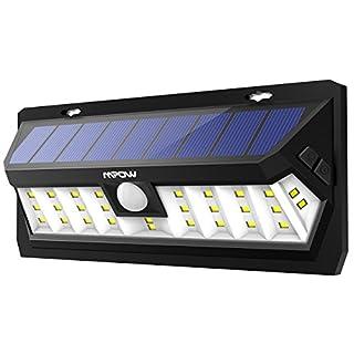 Mpow 30 LED Lampe Solaire Extérieur Etanche IP65 Panneau Solaire de Haute-Efficace Détecteur deMouvement Eclairage Extérieur Grand Angle Luminaire Extérieur Puissante pour Jardin, Cour, Allée, Garage
