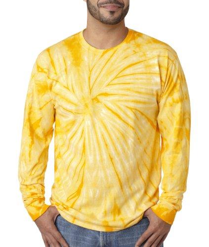 Pliuegy 5.4 oz., 100% Cotton Long-Sleeve d T-Shirt 3Gold Spider
