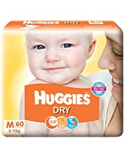 Huggies New Dry Medium Size Diapers (60 Counts)