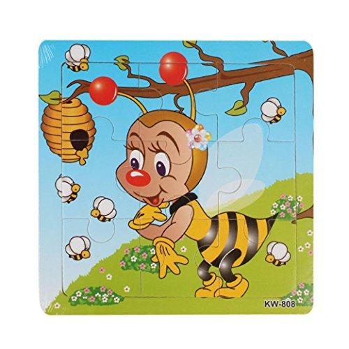 Kleinkindspielzeug Longra Holzpuzzles Steckpuzzle