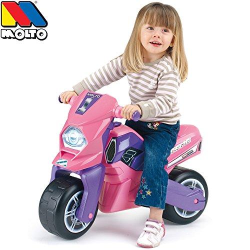 Rutsch Motorrad mit breiten Reifen, dient als Lauflernhilfe für die Kleinen, 72 cm, geeignet für Innen und Außen, Robust, Lauflernrad fürs Gleichgewicht, Kinder Bike, Motorrad Roller ab 18 Monaten
