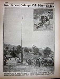 Tube Télescopique du Périscope 1916 WW1 Allemand Géant