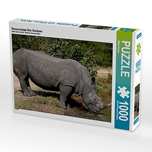 Wasserstopp fürs Nashorn 1000 Teile Puzzle Quer