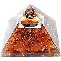 Humunize Karneol Stein mit Bleistift und Logo Orgon Pyramide Chakra-Energie-Generator Reiki Stein Fen Shui Geschenk preisvergleich bei billige-tabletten.eu