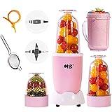 Persönlicher Mixer, Tragbare Elektrische Fruchtsaftpresse, Multifunktions-Küchenmaschine (Pink)