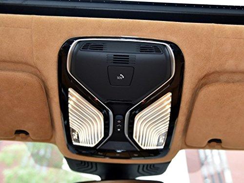 car-styling Innen Zubehör ABS Chrom matt Auto Dach silber KFZ Dach Leselampe Rahmen Dekoration Trim Aufkleber für 5Serie G302018,6Serie GT