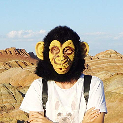 Circlefly Halloween-Tier Maske Latex Gorilla Maske Big Mouth Affe ()