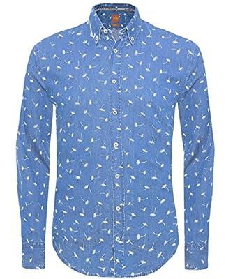 BOSS Orange Men's Edipoe Long Sleeve Slim Fit Casual Shirt