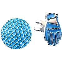 pushfocourag - Rotulador magnético con Visera y Clip para Entrenamiento, Blue Glove