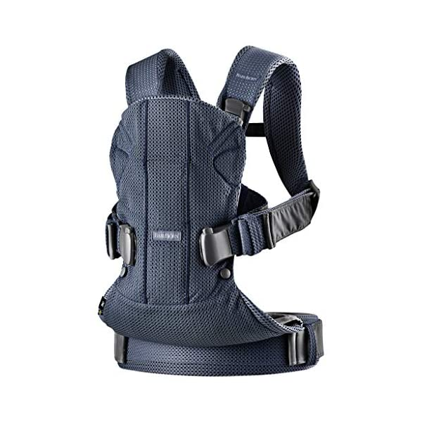 BABYBJÖRN Baby Carrier One Air, 3D Mesh, Navy Blue, 2018 Edition Baby Bjorn The latest version (2018) with soft and breathable mesh that dries quickly Ergonomic baby carrier with excellent support 4 carrying positions: facing in (two height positions), facing out or on your back 4