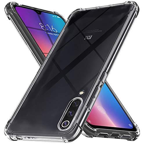 Ferilinso Funda para Xiaomi Mi 9 SE, Ultra [Slim Thin] Resistente a los arañazos TPU Caucho Piel Suave Silicona Funda Protectora para Xiaomi Mi 9 SE (Transparente)