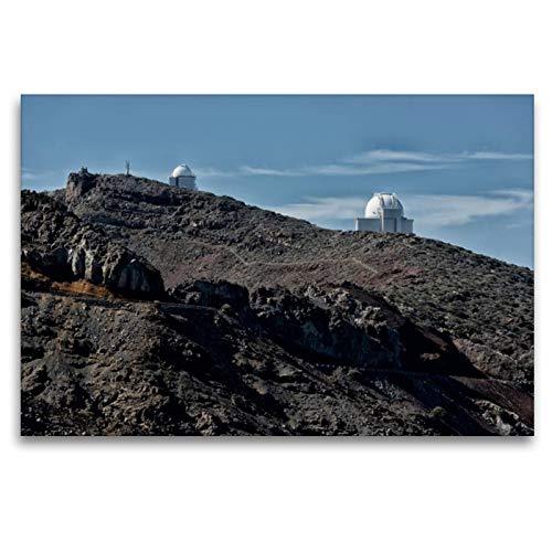 Calvendo Premium Textil-Leinwand 120 x 80 cm Quer-Format La Palma - Observatorium | Wandbild, HD-Bild auf Keilrahmen, Fertigbild auf hochwertigem Vlies, Leinwanddruck von Angelika Stern Natur Natur (Home-observatorium)