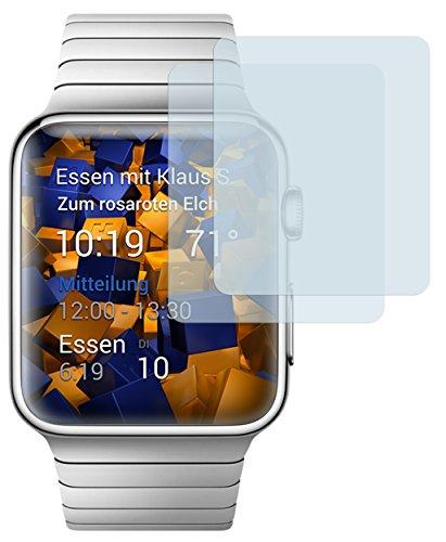 mumbi Schutzfolie kompatibel mit Apple Watch 38mm Series 1 Folie, Watch 38mm Series 2 Folie klar, Bildschirmschutzfolie (2x)