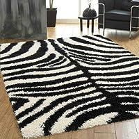 Couture Rugs Geneva-MB11, motivo zebrato, 100% acrilico/acrilico, Zebra, 160 x
