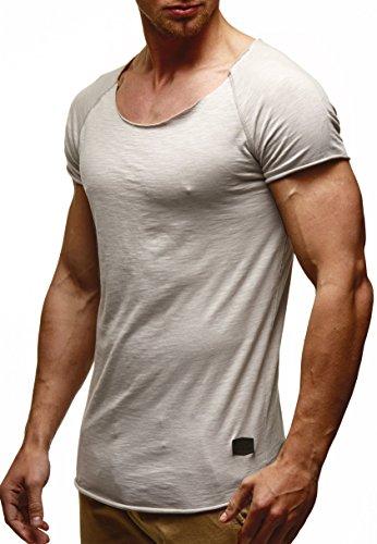 Rerock Party Herren Longshirt T-Shirt Lang 11116 oversized rundhals dunkelgrau