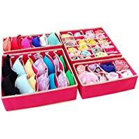 Aufbewahrungsboxen für Büstenhalter Unterwäsche Dessous und andere kleine Zubehörteile 4er Set preisvergleich bei kinderzimmerdekopreise.eu