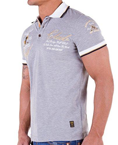 Redbridge Herren Poloshirt R41209 Grau Melange