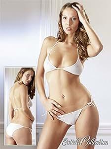 Cotteli Collection Bikini en tulle doux avec nœuds décoratifs Blanc transparent Taille unique S-L Taille unique : S-L