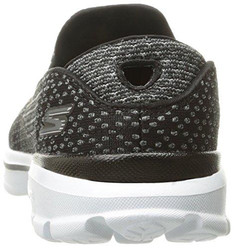 Skechers - Go Walk 3 Go Knit, Sneaker Donna Black/White