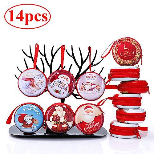 Gudotra 14pz Scatole Regalo Caramella Natalizi per Bambini Addobbi Decorazione Albero di Natale Gadget Compleanno Natale Bambini Oggettistica Nat