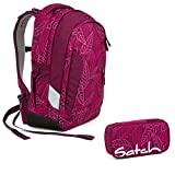 Satch Sleek - 2tlg. Set Schulrucksack - Purple Leaves