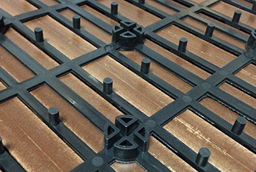 Sam® mattonelle in wpc ad incastro per terrazzo set di 22 pezzi di