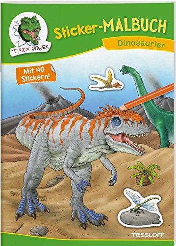 Sticker-Malbuch Dinosaurier: 40 Sticker zum Gestalten von Bildern, Brotdosen & Co. (Malbücher und -blöcke) (Dinosaurier-malbuch)