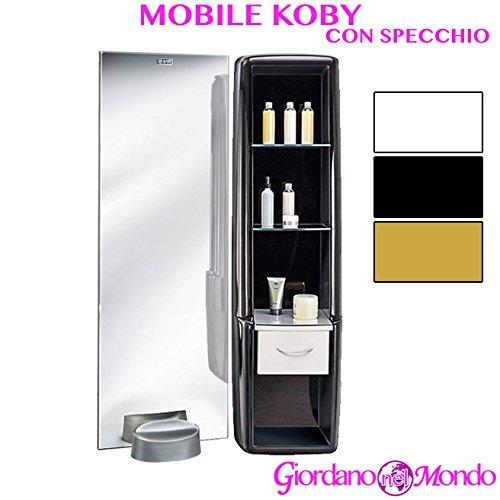 Specchio con mobile laterale salone parrucchiere koby ceriotti arredamento negozio