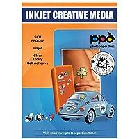 PPD 10 Feuilles x A4 Film Autocollant PREMIUM Semi-Transparent / Translucide, Qualité Photo, Personnalisé Jet d'Encre…