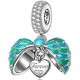 NINAQUEEN Alas de angel Abalorio de mujer de plata de ley Charms beads fit Pandora pulseras
