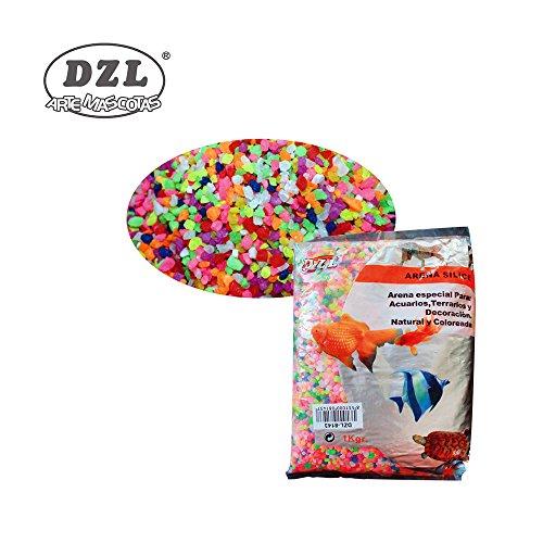 DI ZE LIN PET HOME S.L DZL Piedras Pequeñas Colores Para Acuario Decoración Natural Coloreada 1Kg