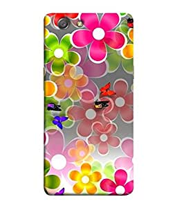 PrintVisa Designer Back Case Cover for Oppo Neo 5 :: Oppo A31 :: Oppo Neo 5S 2015 (Flora Petal Attraction Beauty Spring Vector Graphic)