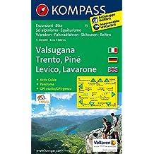 Valsugana - Trento - Piné - Levico - Lavarone: Wanderkarte mit Aktiv Guide, Panorama, Radwegen und alpinen Skirouten. GPS-genau. 1:50.000 (KOMPASS-Wanderkarten, Band 75)