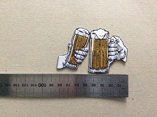 Ecusson-Patches Aufnaher Toppa-Bieres Aperitifs Trinkspruch-zum Aufbügeln