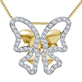 Vorra Fashion 14K Gold Plated 925 Sterling Silver Pendant For Women (Gold)