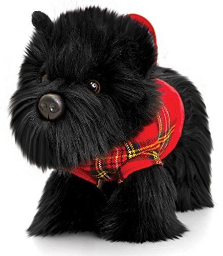 Lashuma 2 in 1 Kuscheltier und Handtasche, Signature Puppies Hund Scottie schwarz 30 cm -