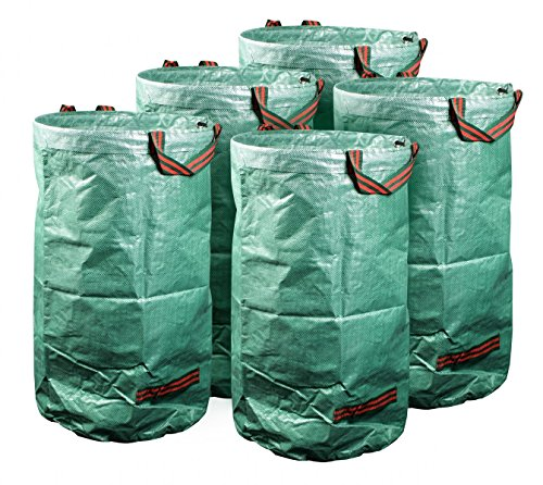 *mgc24® Gartensack 120l – Stabiler Gartenabfallsack aus robustem Polypropylen Gewebe 150 g/m² – 5er-Set*