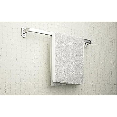 SBWYLT-Toalla de baño sencillo y moderno barra espacio aluminio anodizado montado en la pared poste doble toallero