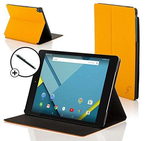 ogle Nexus 9 8.9 Zoll Hülle Schutzhülle Tasche Bumper Folio Smart Case Cover Stand - Rundum-Geräteschutz und intelligente Auto Schlaf/Wach Funktion inkl. Eingabestift (GELB) ()