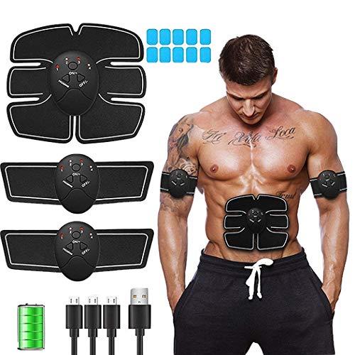 , aufladbar, Bauchmuskeltrainer, EMS Muskelstimulator, Bauchmuskel, Fitness-Ausrüstung für Männer und Frauen ()