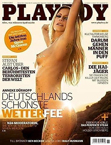 PLAYBOY 11/2010 ANNEKE DÜRKOPP-Deutschlands schönste Wetterfee, Artikel: Darum gehen Männer in den Puff, Hai-Jäger
